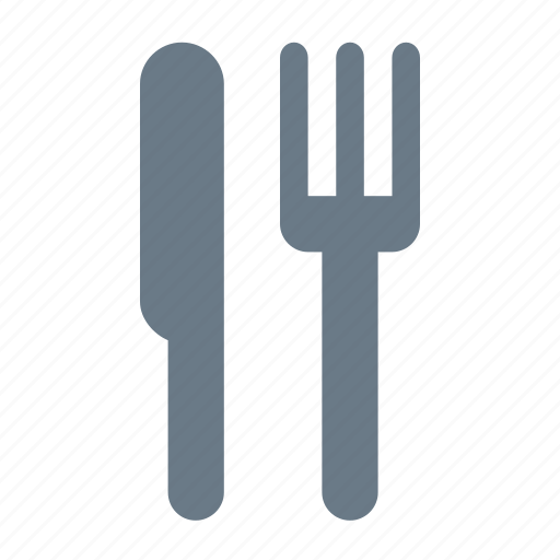 cooking, food, fork, kitchen, knife, meal, restaurant icon