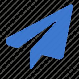 flight, paper, paper plane, plane, send, sheet icon