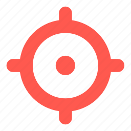 aim, goal, sight, target icon