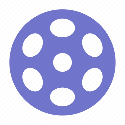 coil, movie, multimedia, reel, video icon