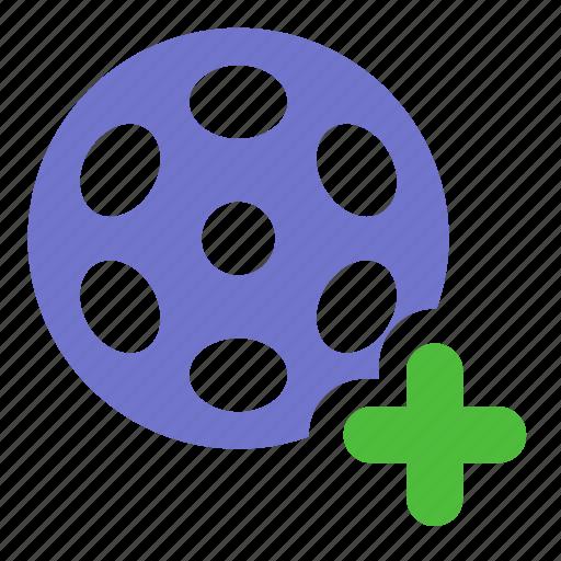 add, movie, premiere, video icon