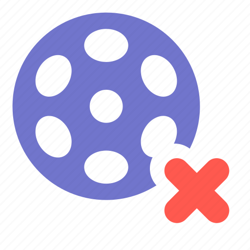 delete, film, media, movie, multimedia, video icon