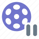 film, media, movie, multimedia, pause, video icon