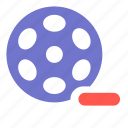 film, media, movie, multimedia, remove, video icon