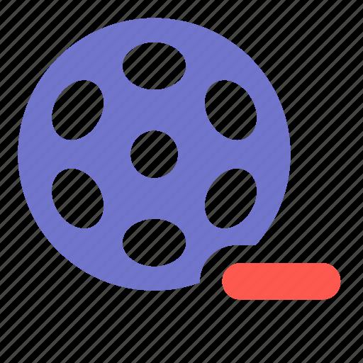 film, media, movie, multimedia, remove, video icon