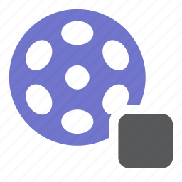 film, media, movie, multimedia, stop, video icon