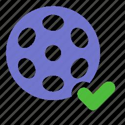film, media, movie, multimedia, uploaded, video icon