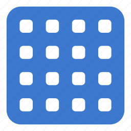 grid, interface, layout, multimedia icon