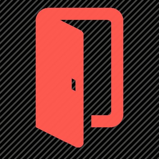 door, enter, exit, in, open, quit, sign in icon