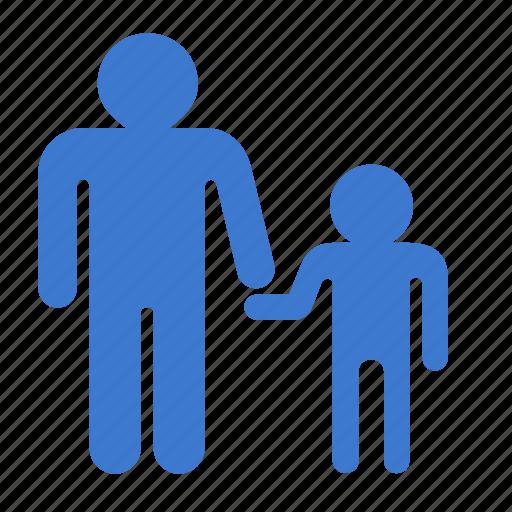 child, father, parent, parent control, son icon