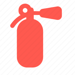 extinguisher, fire, flame, safety icon