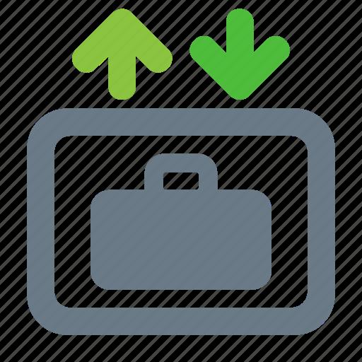 elevator, hotel, lift, luggage, service icon