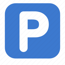 auto, car, parking, road, sign, transport icon