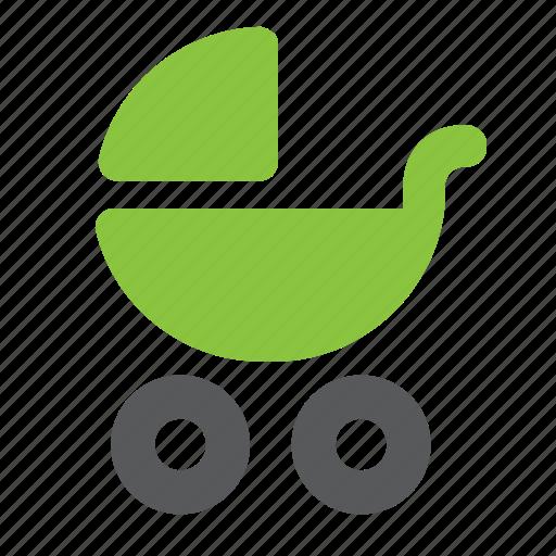 baby, carriage, childhood, infant, newborn, pram icon