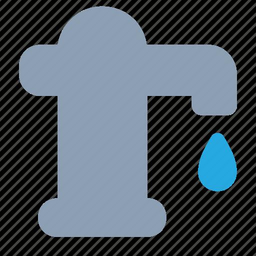 pump, spring, village, water icon
