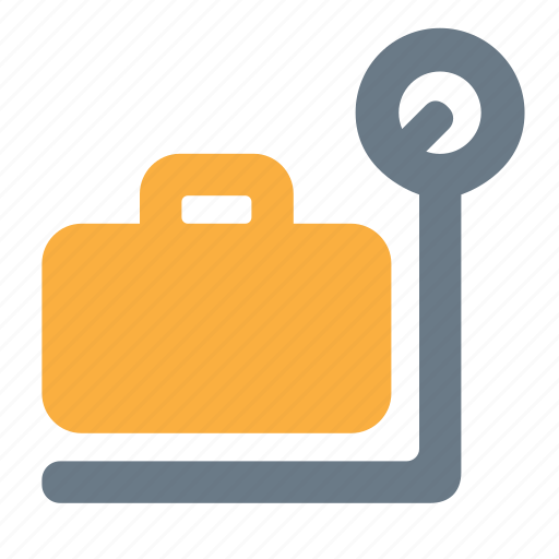 baggage, luggage, registration, travel, weight icon