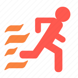 emergency, escape, evacuation, exit, run, runaway icon