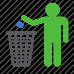 bin, box, garbage, recycle, trash icon