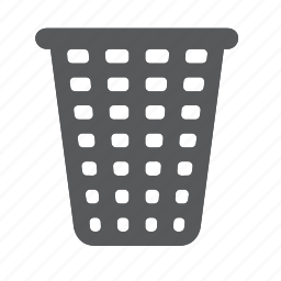 bin, box, empty, garbage, recycle, trash icon