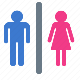 man, restroom, toilet, water closet, wc, woman icon