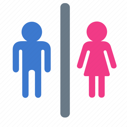 female, male, restroom, toilet, wc icon