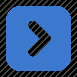 arrow, forward, go, next, play, right icon