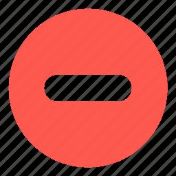 circle, delete, minus, round, sign icon