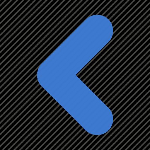 arrow, back, backward, left, prev, previous, undo icon