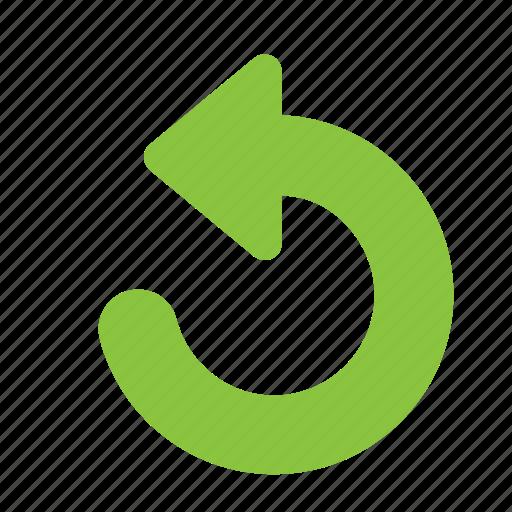 action, arrow, rotate, round, undo icon