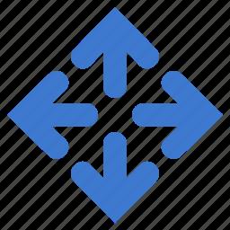 arrows, down, left, maximize, move, right, up icon