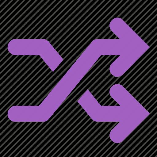 arrows, play, player, random, shuffle icon