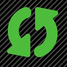 arrows, circle, refresh, sync, synchronization, update icon