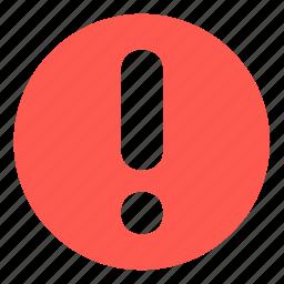 alert, attention, caution, error, notification, problem icon