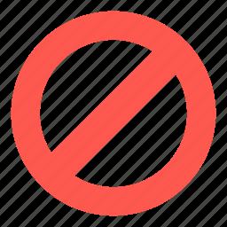 cancel, delete, forbidden, remove icon