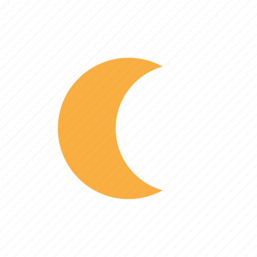 crescent, evening, forecast, moon, night icon