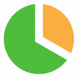 chart, data, diagram, pie, report icon