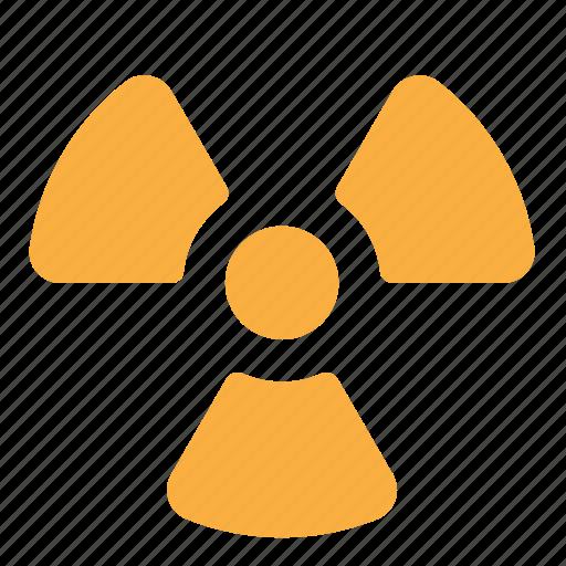 danger, hazard, radiation, radioactivity, risk, warning icon