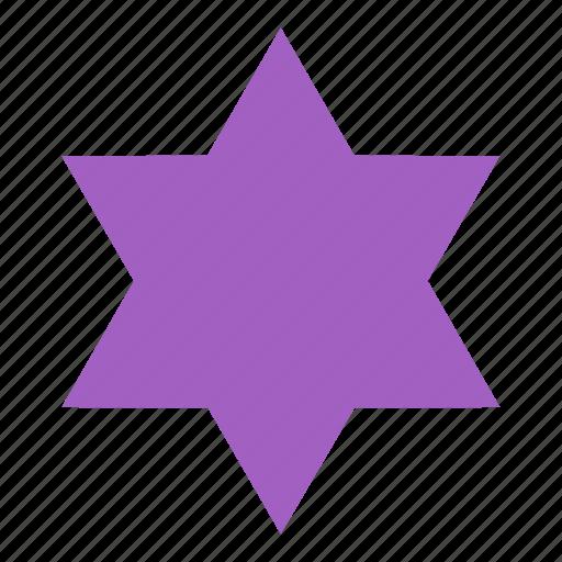 figure, form, hexagonal, shape, star icon