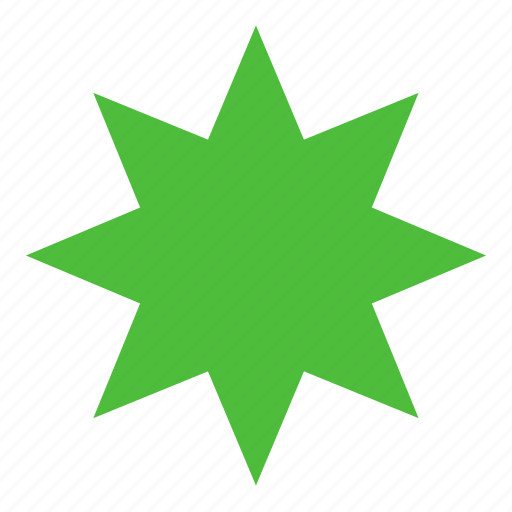 figure, form, octagonal, shape, star icon