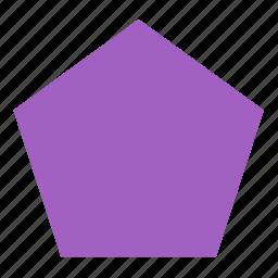 figure, form, geometry, pentagon, shape icon