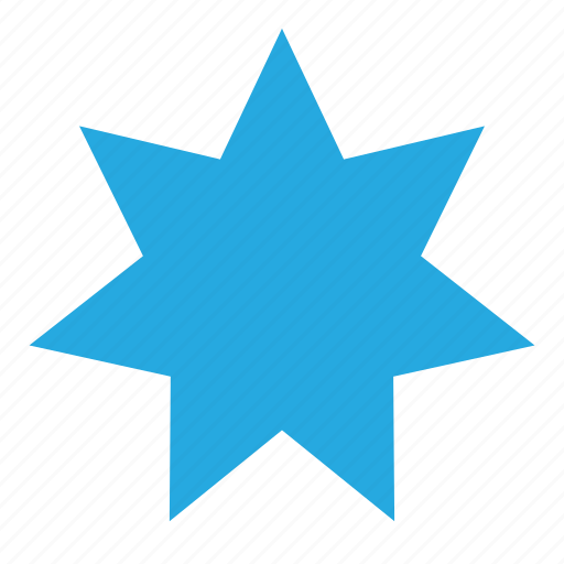 figure, form, seven, shape, star icon