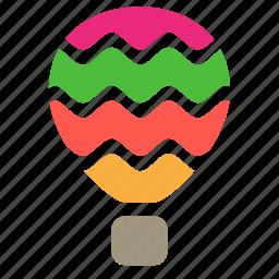 air, balloon, flight, fly, transport, travel icon