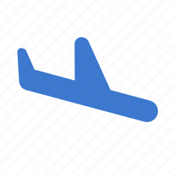 airplane, flight, flying, landing, plane, transport, travel icon