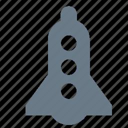 launch, rocket, space, spacecraft, spaceship, transport, travel icon