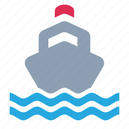 boat, nautical, ship, steamship, transport, travel, water icon