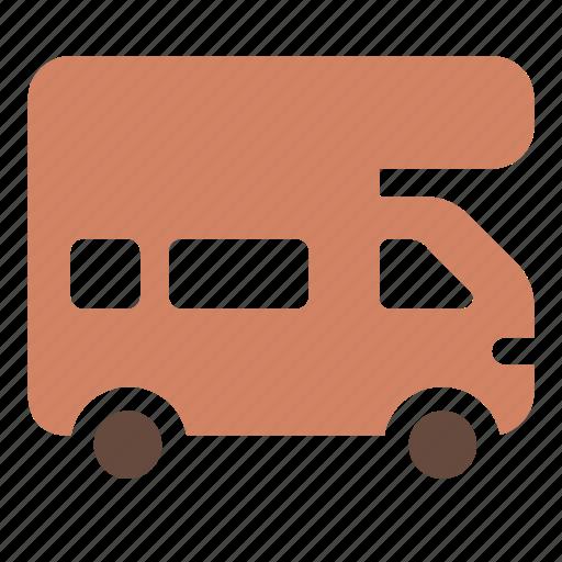 auto, car, trailer, transport, travel, truck, van icon