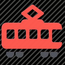 railroad, railway, train, tramway, transport icon