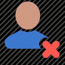 account, delete, profile, remove, user icon