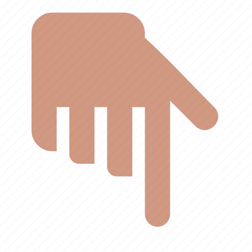 direction, down, finger, forefinger, gesture, hand icon