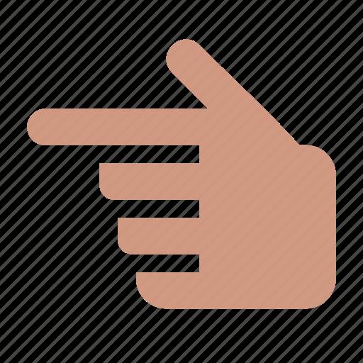 direction, finger, forefinger, gesture, hand, left icon